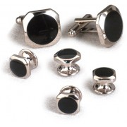 Dallas Black Onyx Cufflinks and Studs