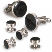 Beveled Black Onyx Cufflinks