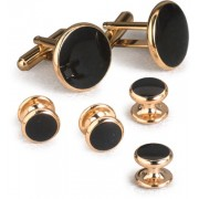 Executive Black Onyx Cufflinks and Studs