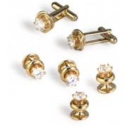 Rhinestone Knot Cufflinks and Studs