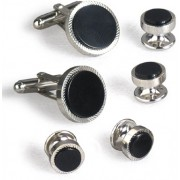 Rope Black Onyx Cufflinks and Studs