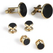Celebration Black Onyx Cufflinks and Studs