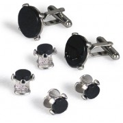 Loft Black Onyx Cufflinks and Studs