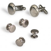 Mirrored Rope Cufflinks and Studs