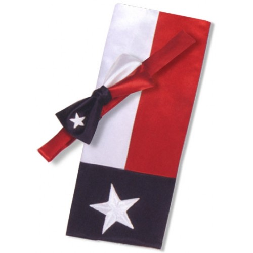 Red, White and Blue Texas Star Cummerbund and Tie Set