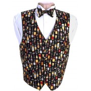 Wine Vest and Bow Tie Set