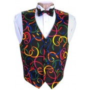 Mardi Gras Serpentine Vest and Bow Tie Set