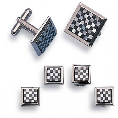 Checkmate Cufflinks and Studs