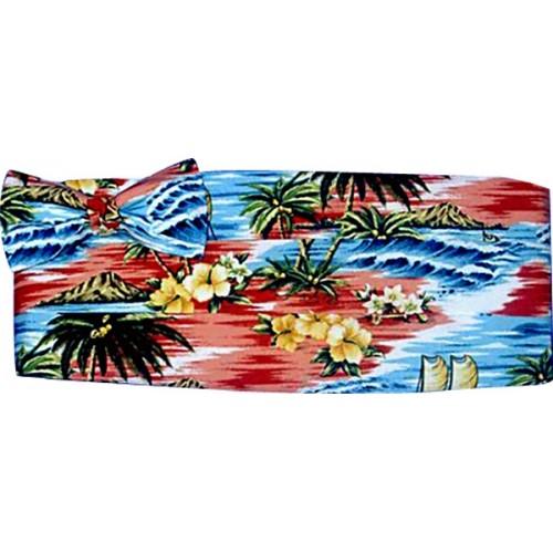 Coral Tropicals Cummerbund and Bow Tie Set
