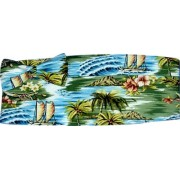 Seamist Tropicals Cummerbund and Bow Tie Set
