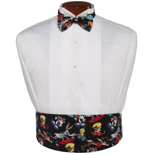 Looney Tunes Cummerbund and Bow Tie Set