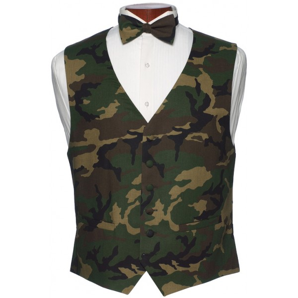 2dd2b6dffc32 Camouflage Vest and Bow Tie Set