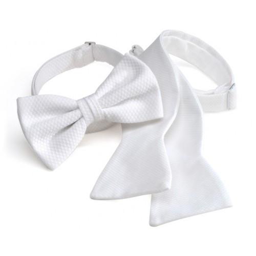 White Piqué Bow Tie