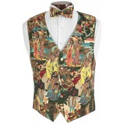 Hawaiian Luau Vest and Bow Tie Set