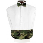 Camouflage Cummerbund and Bow Tie Set