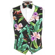 Bird of Paradise Vest and Bow Tie Set