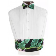 Bird of Paradise Cummerbund and Bow Tie Set