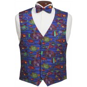 Saltwater Fish Vest and Tie Set