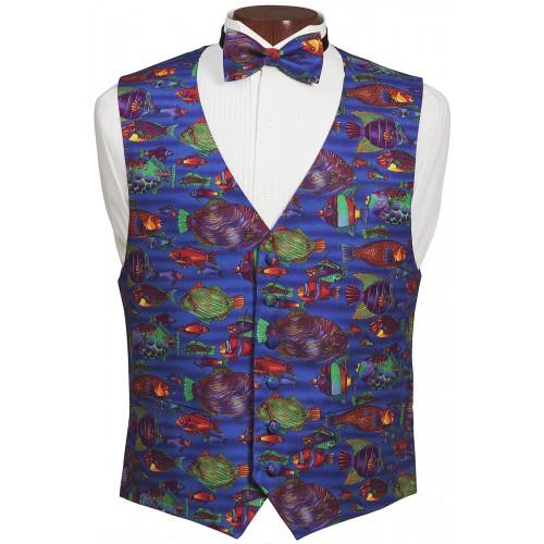 Saltwater Fish Vest and Tie Set