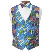 Coral Reef Vest and Bow Tie Set