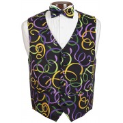 Mardi Gras Fat Tuesday Vest and Tie Set