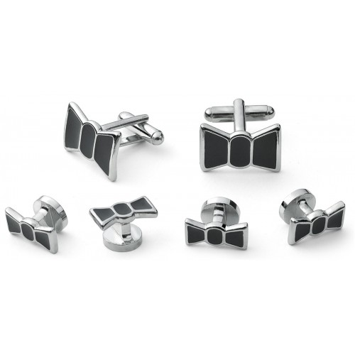 Bow Tie Cufflink and Stud Set