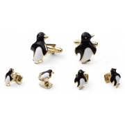 Penguin Cufflink and Stud Set
