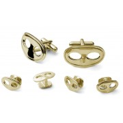 Mardi Gras Masks Cufflink and Stud Set