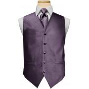 Custom Color Diamond Vest and Tie Set