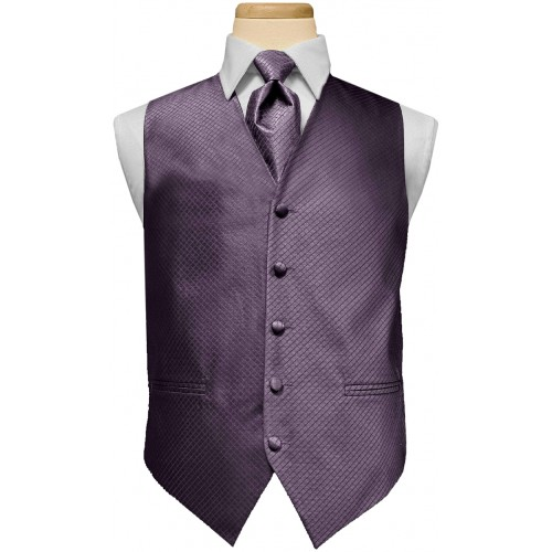 Custom Color Diamond Vest and Tie Set