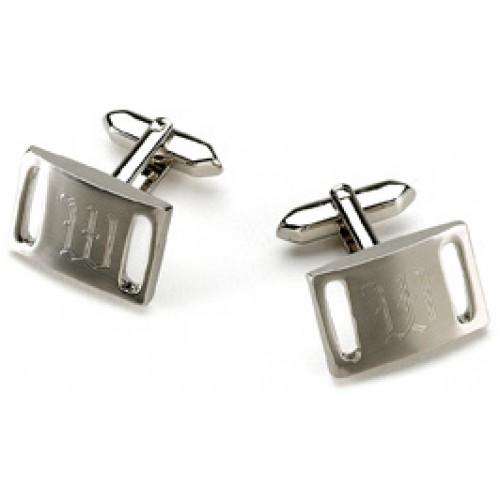 Marlon Brushed Silver Cufflinks
