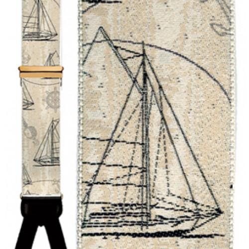 Nautical Dreams Silk Suspenders