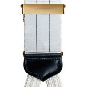 Subtle Stripe Silk Suspenders