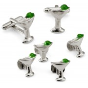 Martini Cufflinks and Stud Set