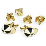 Horse and Jockey Cufflink and Stud Set