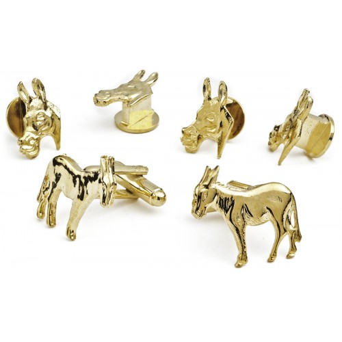 Democrat Donkey Cufflink and Stud Set