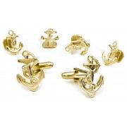 Anchors Aweigh Cufflink and Stud Set