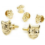 Drama Masks Cufflink and Stud Set