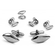 Football Cufflink and Stud Set