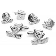 Golf Cufflink and Stud Set