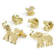 Republican Elephant Cufflink and Stud Set