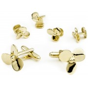 Boat Props Cufflink and Stud Set