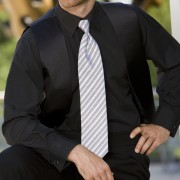 Bob Black Lay Down Collar Tuxedo Shirt