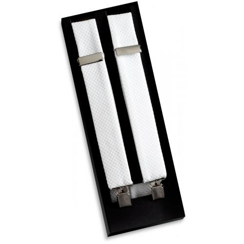 White Piqué Suspenders