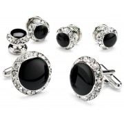 Rhinestone Cufflinks and Studs