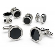 Octagon Cufflinks and Studs