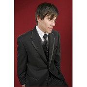 The Edge Two Button Black Tuxedo