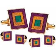 Mardi Gras Classic Cufflinks and Studs