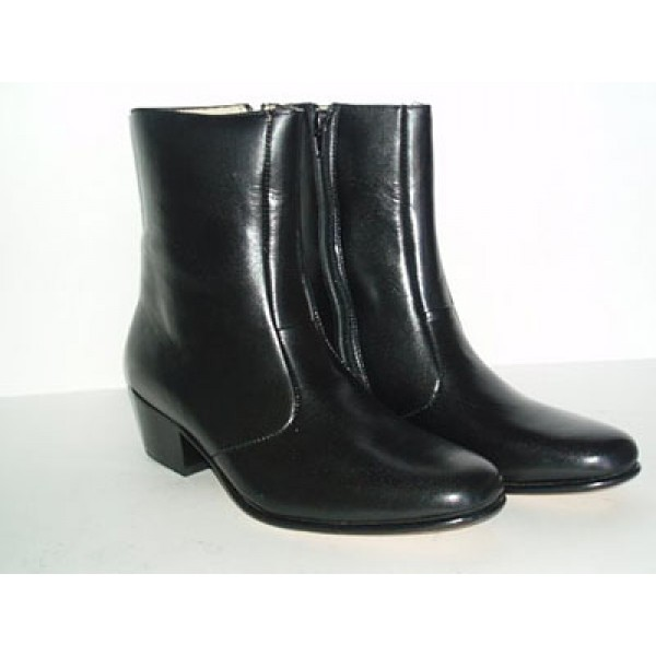 black cuban heel boots