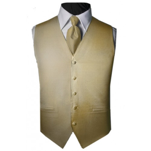 Custom Color Venetian Tuxedo Vest and Tie Set